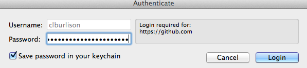 Authenticate Window