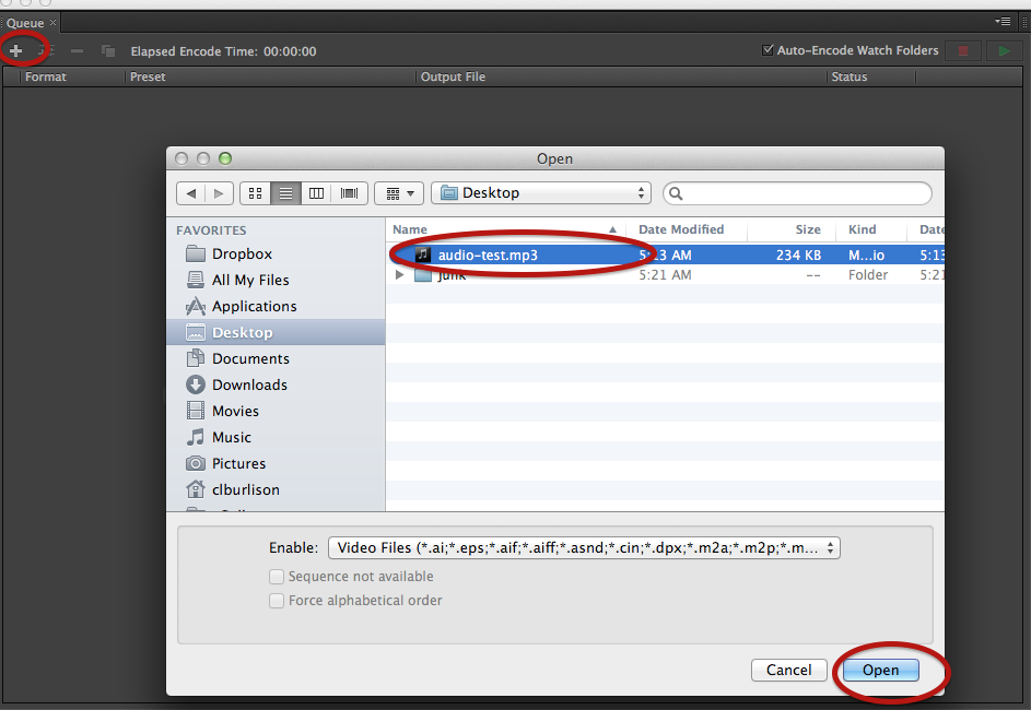 Converting Audio With Media Encoder
